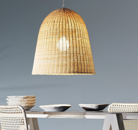 rattan lampe bell rattan loom korb m bel looms. Black Bedroom Furniture Sets. Home Design Ideas