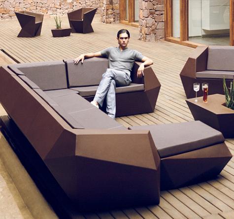 Loungemöbel indoor  Designer Gartenmöbel Vondom FAZ - Rattan-, Loom- & Korb-Möbel - looms