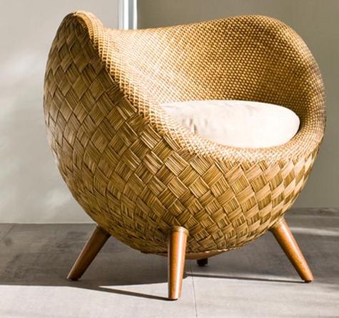 Lounge sessel rattan  Rattan-Sessel La Luna - Rattan-, Loom- & Korb-Möbel - looms