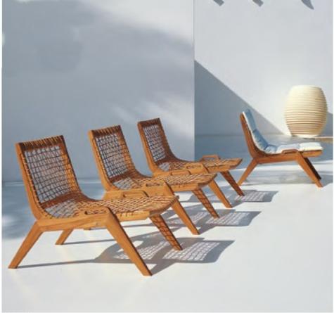 Lounge stuhl garten  Unopiu Garten-Möbel Synthesis - Rattan-, Loom- & Korb-Möbel - looms