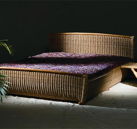 rattan bett samba rattan loom korb m bel looms. Black Bedroom Furniture Sets. Home Design Ideas
