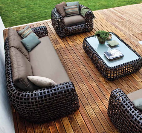 luxus gartenm bel matilda rattan loom korb m bel looms. Black Bedroom Furniture Sets. Home Design Ideas