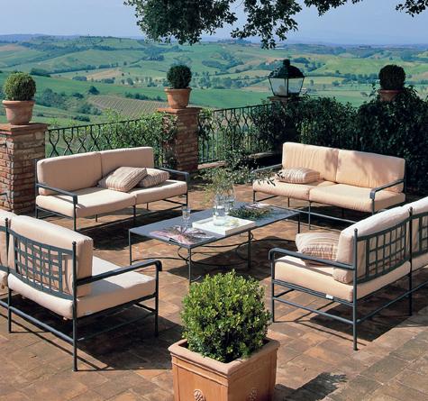 Eisen Gartenmöbel Toscana Rattan Loom Korb Möbel Looms