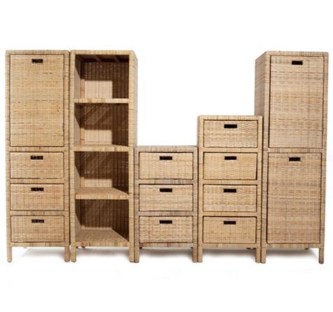 Rattan Schrank Cabinet - Rattan-, Loom- & Korb-Möbel - looms