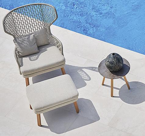 Coole Gartenmöbel design gartenmöbel lounger rattan loom korb möbel looms