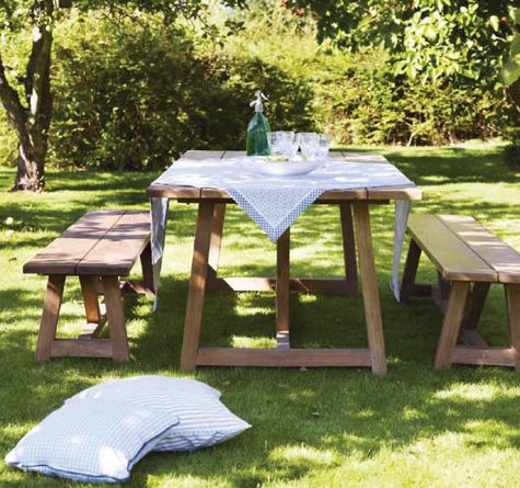 Tisch Recycled Teak George Rattan Loom Korb Möbel Looms