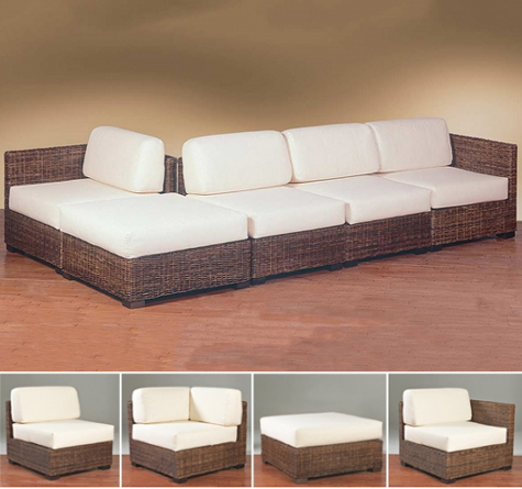 rattan ecksofa. Black Bedroom Furniture Sets. Home Design Ideas
