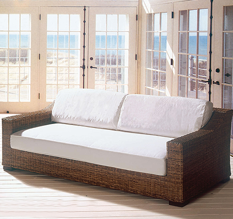Rattan sofa outdoor  Rattan Couch Cartesio IN - Rattan-, Loom- & Korb-Möbel - looms