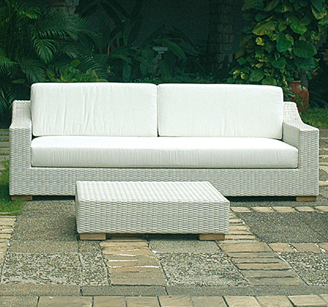 Rattan sofa outdoor  Rattan Couch Cartesio OUT - Rattan-, Loom- & Korb-Möbel - looms