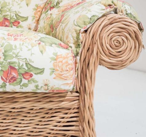 Lounge Hamptons Graphics Two Rattan Loom Korb Mobel