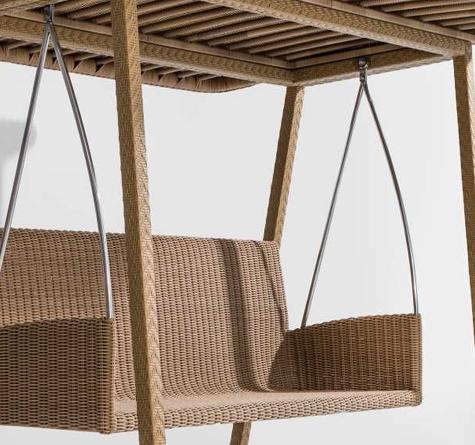 Hollywoodschaukel mit pavillon  Hollywood Schaukel Dondolo - Rattan-, Loom- & Korb-Möbel - looms