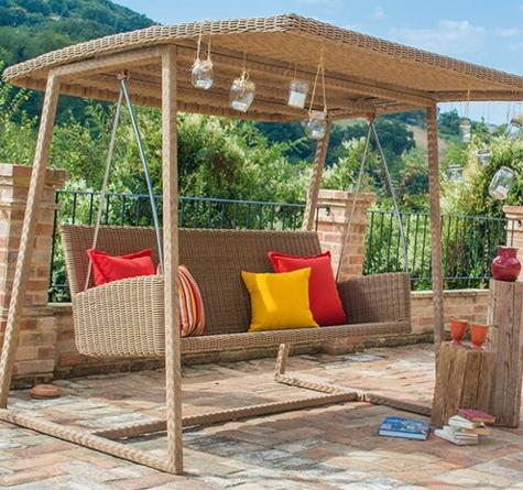 hollywoodschaukel rattan loom korb m bel looms. Black Bedroom Furniture Sets. Home Design Ideas