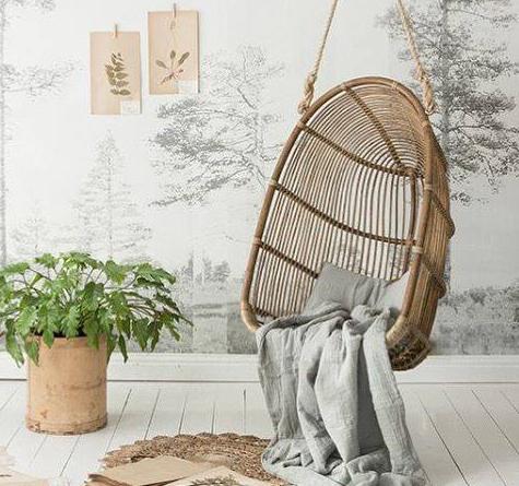 rattan h ngesessel renoirswing rattan loom korb. Black Bedroom Furniture Sets. Home Design Ideas