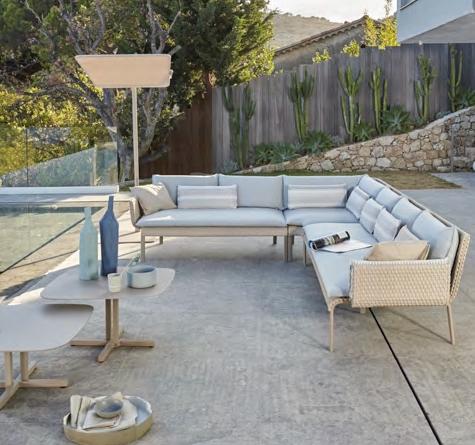 teak ecklounge lineal rattan loom korb m bel looms. Black Bedroom Furniture Sets. Home Design Ideas