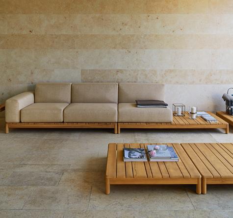 Moderne loungemöbel indoor  Teak Loungemöbel Barcode - Rattan-, Loom- & Korb-Möbel - looms