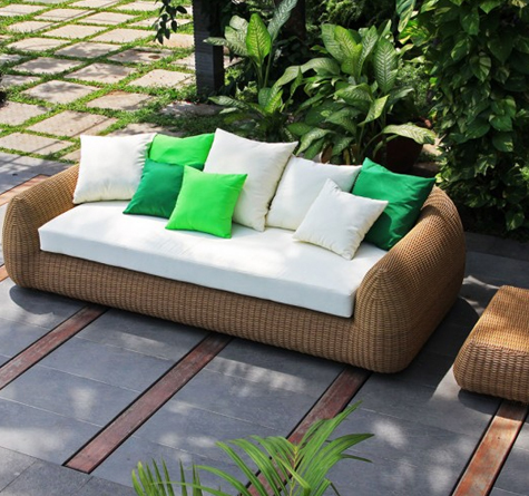 Rattan sofa outdoor  Rattan Outdoor Lounge Mango OUT - Rattan-, Loom- & Korb-Möbel - looms