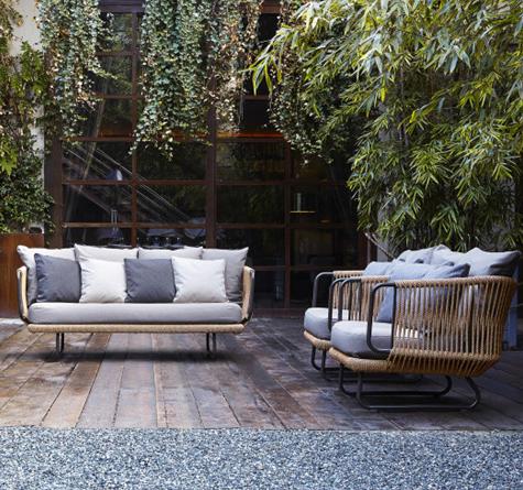 Designer Lounge Mobel Babylon Rattan Loom Korb Mobel