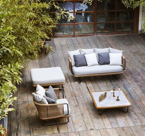 Designer Lounge Möbel Babylon Rattan Loom Korb Möbel