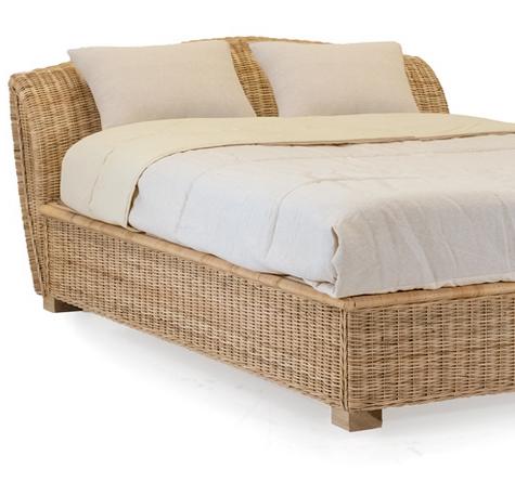 rattanbett retro rattan loom korb m bel looms. Black Bedroom Furniture Sets. Home Design Ideas