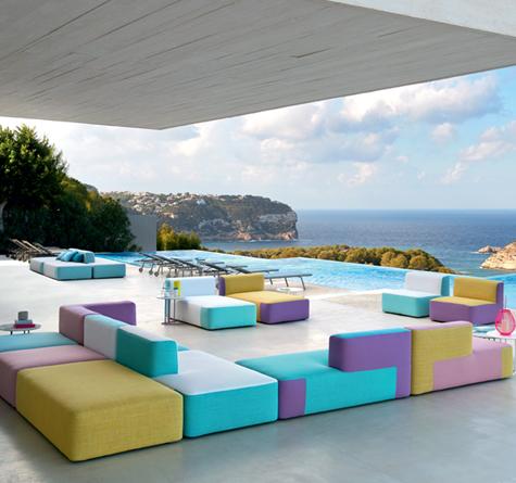 Outdoor Möbel Lounge Belt - Rattan-, Loom- & Korb-Möbel - looms