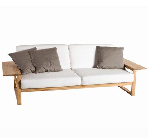 Lounge sofa outdoor holz  Teak Holz Lounge Möbel Lineal - Rattan-, Loom- & Korb-Möbel - looms
