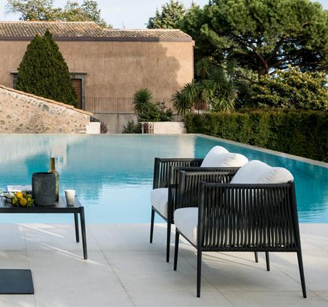 Designer Gartenmöbel Luce Lounge - Rattan-, Loom- & Korb ...