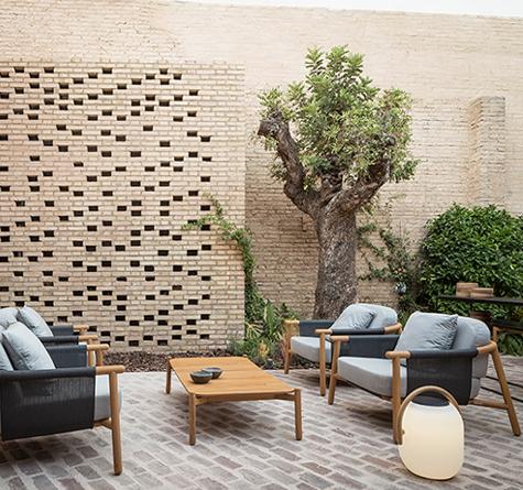teakholz lounge hamp rattan loom korb m bel looms. Black Bedroom Furniture Sets. Home Design Ideas